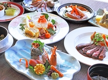 【夕食一例:またたきプラン】※仕入の状況により、料理の内容が変わる場合があります