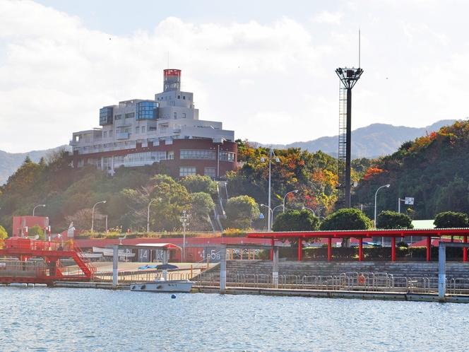【外観】大阪湾側から見たマリンロッジ海風館