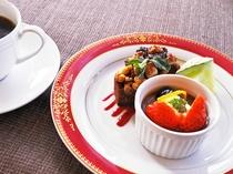 【夕食一例:またたきプラン】デザート(コーヒー付)