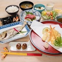 *夕食一例「上天ぷら定食」