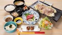 *[夕食3,190円/税込]夕食一例「イノシシ焼肉定食」