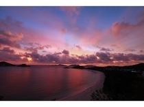 ケラマ諸島渡嘉敷島の夕暮れ