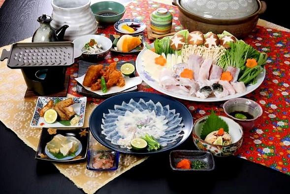 【フグ料理】「七福」 ひとり一皿の贅沢なフグ刺しが自慢!フグの陶板焼き&煮こごり付!