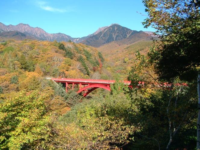 東沢大橋(赤い橋)