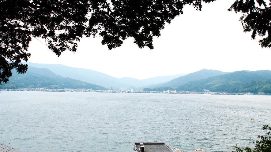 日本三景 天橋立が横一文字に