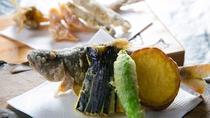 揚物<直入エノハ姿唐揚げ・季節の野菜と>