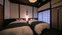 【露天風呂付き離れ・和洋室】寝室