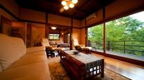【特別室】大きな窓から見える四季の風景