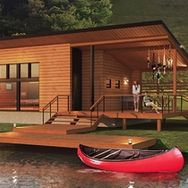 <グランエレメント>この客室に泊まるゲストだけの贅沢なアクティビティとして、カヌー遊びをご用意。