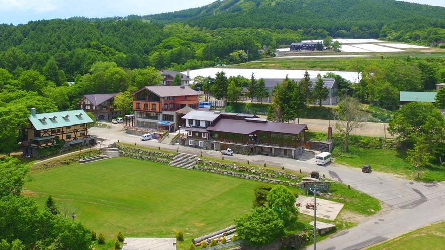 ゾンタックは広大な敷地内に、数多くの施設を保有しています。