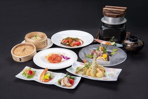 【楽天トラベルセール】【2食付】和食と中華の折衷のご夕食◆おかずたくさん和食膳&パンのご朝食