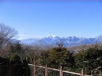 テラスから見た甲斐駒ケ岳