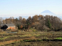 ヒュッテと富士山