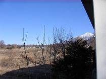 テラスから見た八ヶ岳