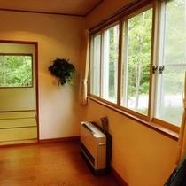 【G棟】窓からは季節の移り変りが愉しめます