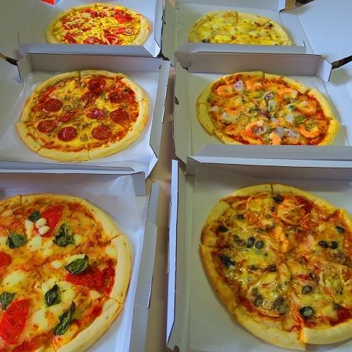 姉妹店ルポゼ白馬のレストランから手作りのピザをお届け。