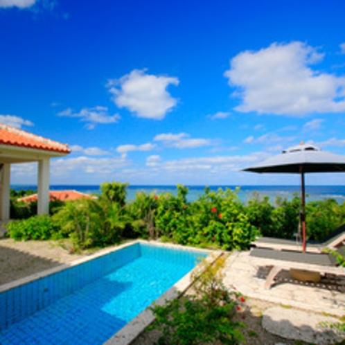 *【月桃】プライベートプールから眺める青い海!目の前を遮るものはありません。