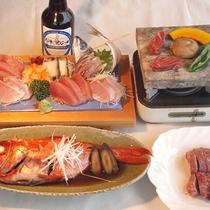 *【食事一例】当館自慢のメイン料理!お好きなプランを選んでください♪