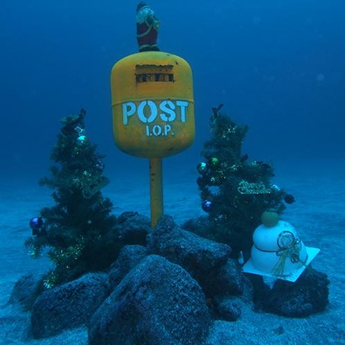 *【海底ポスト】水深約18メートルにあるポスト。ここに投函してもちゃんと届きます♪
