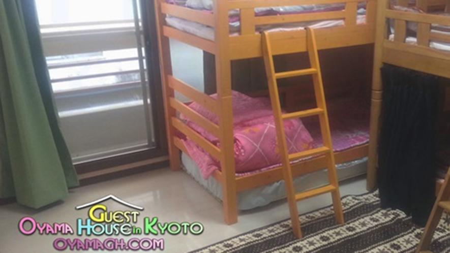 ・2段ベッド2台のMAX4名様用の客室です!