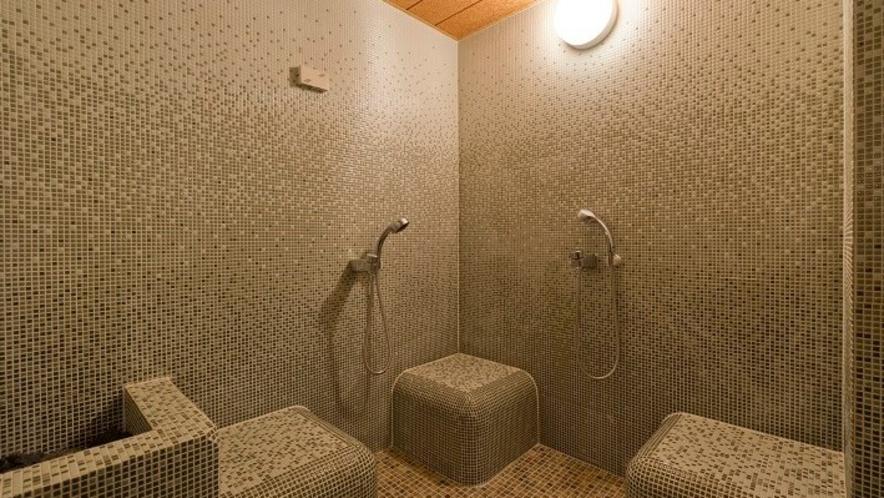 【大浴場・ミストスチームサウナ】約45度の温度設定にしております。