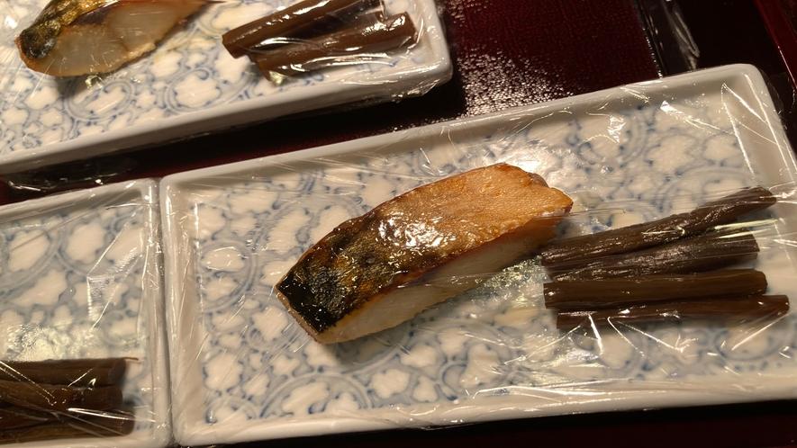 【朝食】ビュッフェ~焼き魚~