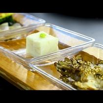 【夕食】先付け★100日舞茸と胡麻豆腐