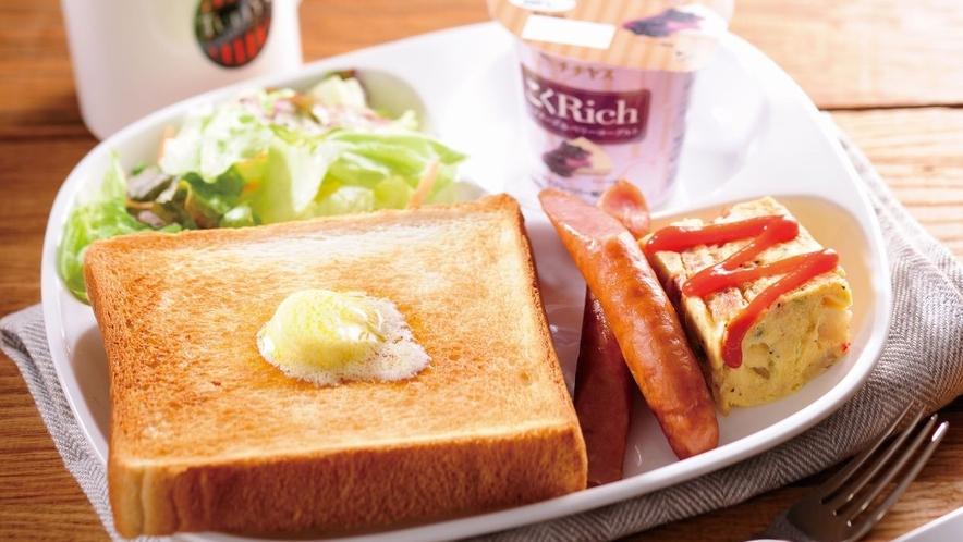 【朝食】トーストプレート