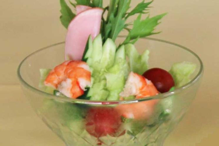 【ご朝食 一例】・・・南伊豆の田舎風朝ごはん ≪サラダ≫