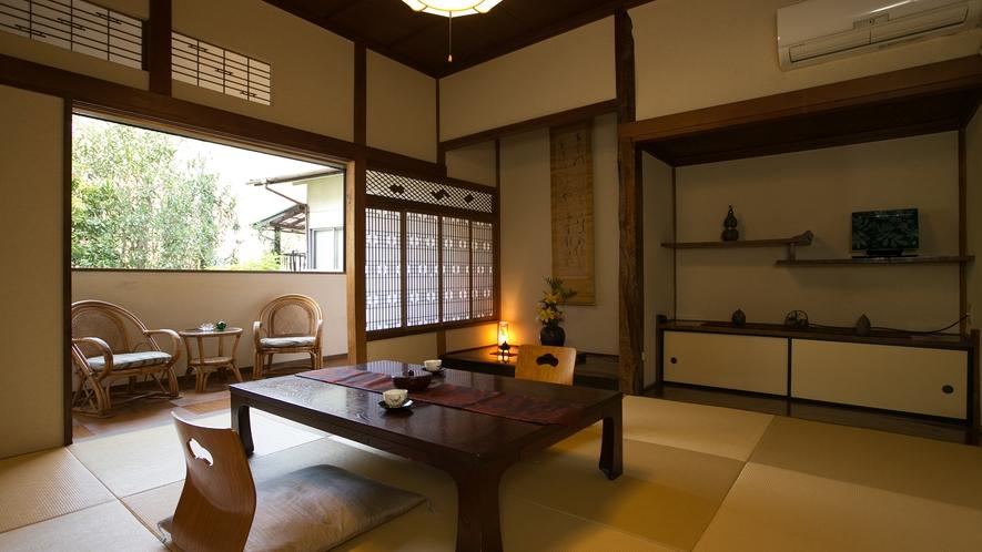 ■露天風呂付き客室8帖■(バス・トイレ付き)