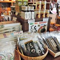 *売店/秋田をはじめ、東北のご当地土産各種を取り揃えております。