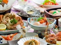 【夕食一例<こだわりプラン>】品数を豊富に取り揃えております。