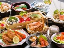【夕食一例<こだわりプラン>】オホーツク近海の良質な素材そのものの味を堪能できます。
