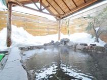 【露天風呂】冬は雪を見ながら