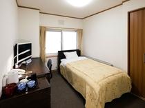 【シングル】ビジネスや一人旅にも最適なお部屋。無料Wi-Fiもございます。