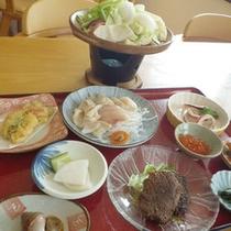 *【料理一例】新鮮な北海道の味覚を楽しめるお食事です。