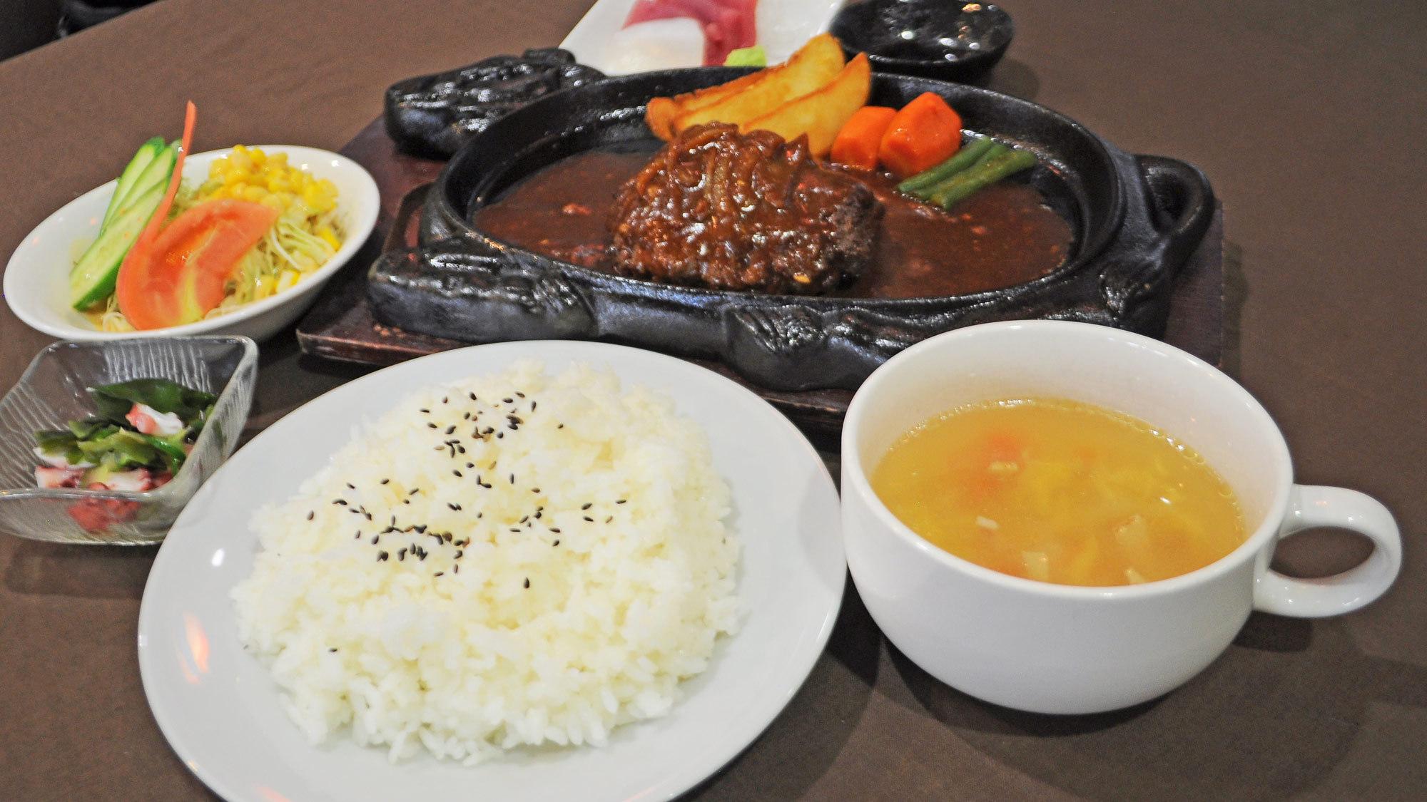 【レストラン】石垣牛ハンバーグステーキ御膳