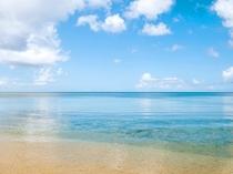 【石垣の青い海】