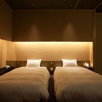 ≪専有露天風呂付和洋室「波瑠香」≫ベッドスペース