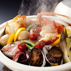 【日帰り夕食プラン】天然桜鯛の姿造りと伊勢海老・鮑付き特選宝楽焼会席