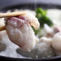 ふぐならではの独特の旨みをストレートにご堪能頂ける「てっちり鍋」≪料理イメージ≫