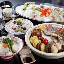 地元の食材をふんだんに使用した「花季会席」≪料理イメージ≫