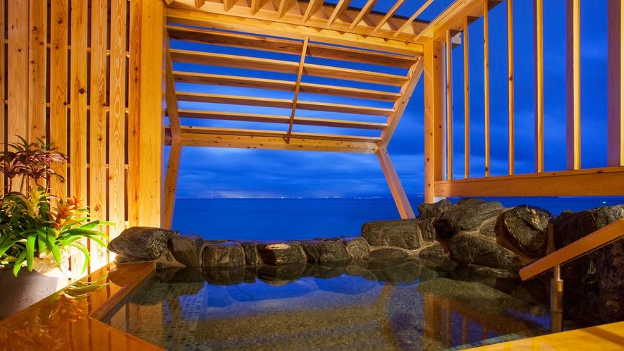 プライベートな空間で洲本温泉をお楽しみいただける貸切露天風呂