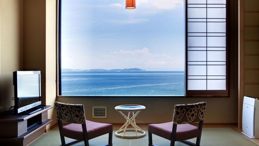 ≪和室10帖≫穏やかな紀淡海峡を一望