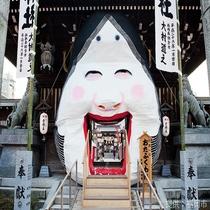 ◎櫛田神社◎春の節分祭には多くの人でにぎわいます。