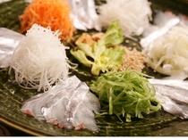 太刀魚のサラダ中華風