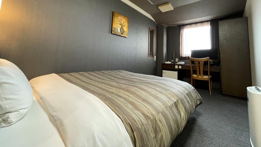 【シングルルーム】ベッド幅:140cm 広さ:14㎡