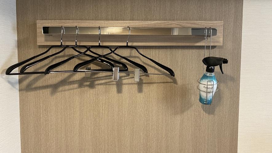■客室ハンガー・除菌消臭スプレー完備