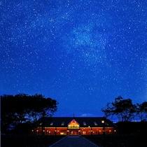 銀河高原ホテルに満天の星空
