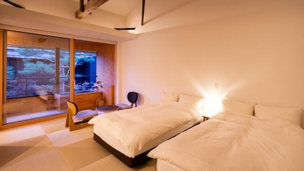 YAMAGATA05 檜露天風呂付 和洋室ツイン(39平米)
